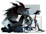 [CLOSED] ADOPT AUCTION164 -Manto Shadowmonster by Piffi-adoptables