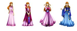 Commission Zelda Dresses by crazyfreak
