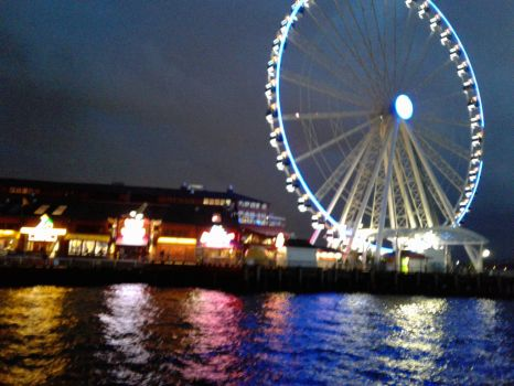 Seattle Waterfront - November by PieFeathers