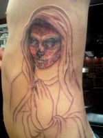 Day of the Dead Virgin Mary by johndevilman