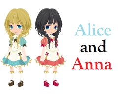 Alice and Anna by DerpyLuv123