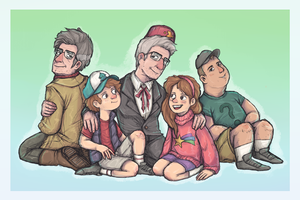 The Pines family by Lavender-Dreamer