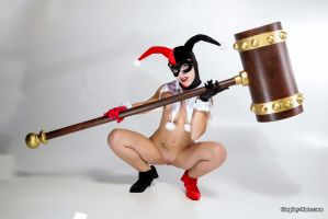 Naked Harley Quinn Cosplay by pgmorin