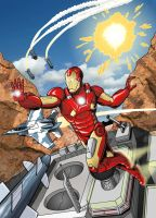 Iron Man, doing whatever an Iron can. by MikeMcelwee