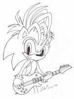 Manic The Hedgehog by YunoRose36