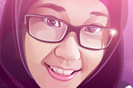 Realistic Vector Hijab Girl by ndop