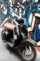 Black Vespa by SqueezeTheUniverse