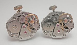 Steampunk Cufflinks with Stems by SteamDesigns