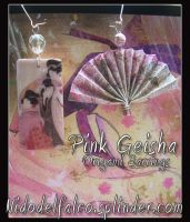 Pink Geisha origami earrings by raffaella131