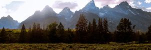 Grand Tetons Pano #5 by KRHPhotography