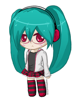 Chibi Miku: project DIVA #1 by Desproduction