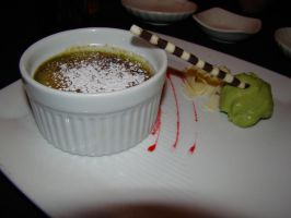 Green Tea Creme Brulee by stephuhnoids