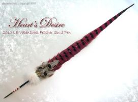 HEARTS DESIRE VDay Quill Pen by ChaeyAhne