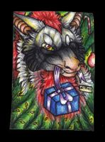 Crimson-Asylum Christmas ACEO card by Suenta-DeathGod