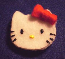 Hello Kitty Custom Pin by daggerhime