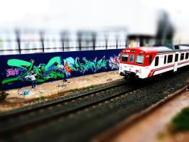 Graffiti tilt-shift by mathijsvanrijnsoever