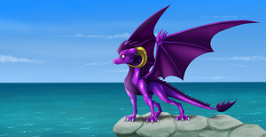 Inspiring View - commission by IcelectricSpyro