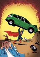 Action Comics #1 tribute for Man of Steel by mattrooke