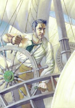 Self Portrait as a Man Lost at Sea by mlauritano