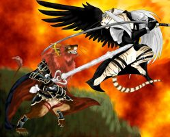Ganondorf vs Sephiroth by DragonlordRynn