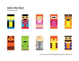 Minimalist Invincible Characters 1 by jsos