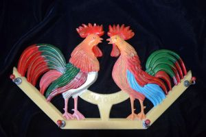 Twin Roosters by Soulren