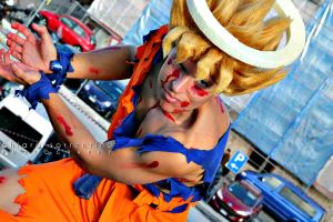 Goku Cosplay Ssj damaged version by Alexcloudsquall