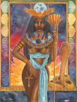The Goddess Isis by PearlWhitecrow