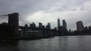 Brooklyn Bridge, East River, Manhattan Skyline by Nightwish161