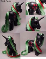 Dark Gusty custom pony by Woosie