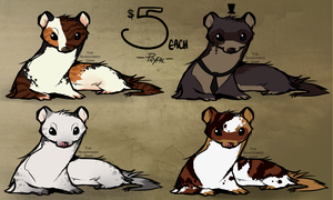 Weasel Adopts - Open by TheShadowedGrim