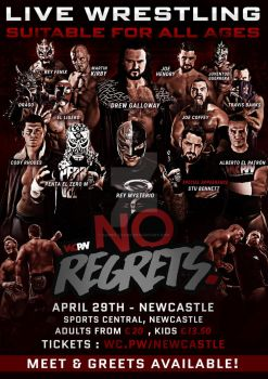 WCPW No Regrets Official Poster by Ahmed-Fahmy