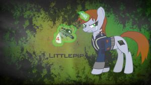 Littlepip wallpaper by Pony2Vector