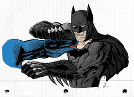 Batman VS Superman Sketch Colored-In by SWArtwork