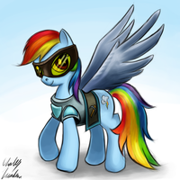 Rainbow Dash with 99 Mining by Rayzoir