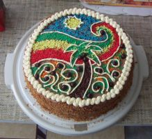 Rasta cake by sera-era