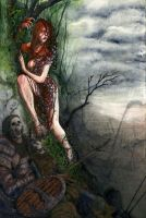 The Bramble Witch -Dark Fantasy Gotham: Poison Ivy by Sweet-Bread