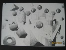 2 point perspective drawing by team-kataang