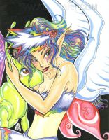 Angel Fairy Lady w Butterfly by alaer
