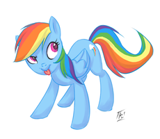 Rainbow Dash by kathrynlayno