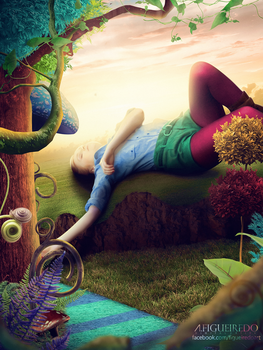 The colorful forest and the sleeping traveler. by Antonio-Figueiredo