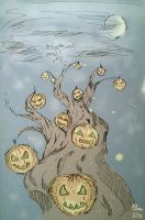 Halloween Tree by ElwenNoriel