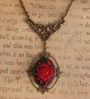 Gothic Victorian Rose Cameo by FusedElegance