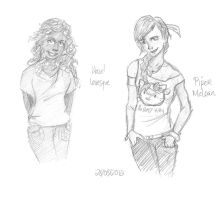 Hazel and Piper by Mababwion1