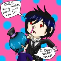 Ciel Doesn't Like Pocky by cheyluvsu03