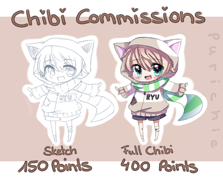 Chibi Commissions - CLOSED - by Purichie