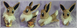 Custom Eevee Beanie in a cup by SakuSay