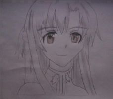 SAO Asuna Drawing by XRallemangafreak