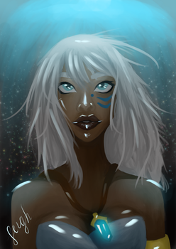 Queen of Atlantis, Kida by leighdrawsss