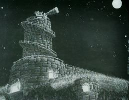 20150525 Observatory at Night by Cyberpumpkin